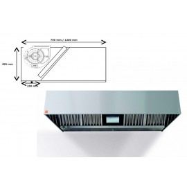 Campana ECO R Monobloc 400º- 150 cm largo