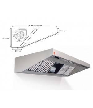 Campana extractora de pared ECO PLUS monobloc 1000 cm largo