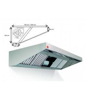 Campana extractora de pared ECO PLUS monobloc 400º 1000 cm largo