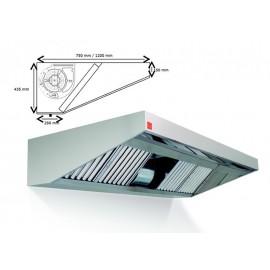 Campana extractora de pared ECO PLUS monobloc 400º 1500 cm