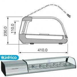Vitrina tapas INFRICO 162cm - 6 Bandejas