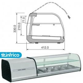 Vitrina tapas INFRICO 126cm - 4 Bandejas doble