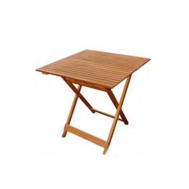 Mesa de exterior plegable ez forest 70x70 madera de balau - Mesas madera exterior ...