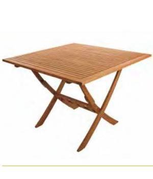 Mesa de madera para exterior de Balau EZ-FOREST 70x70