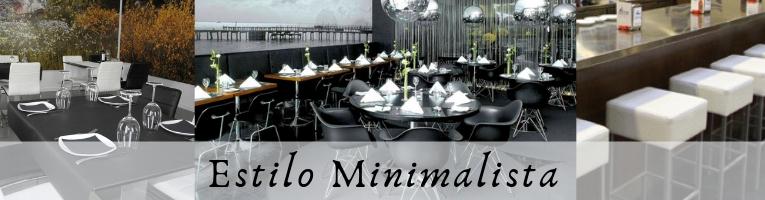 Mobiliario Hostelería minimalista