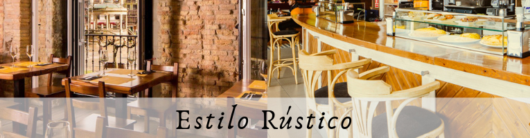 Mobiliario de hostelería rustico