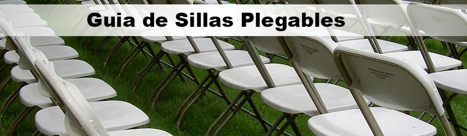 Guia de sillas Plegables