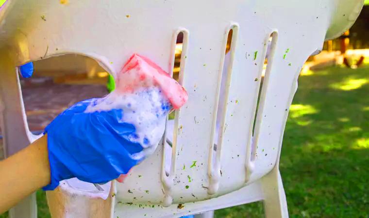 Limpiar silla plastico