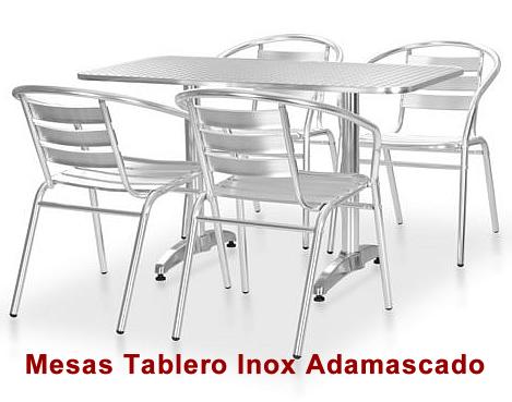 Mesa Terraza Tablero INOX