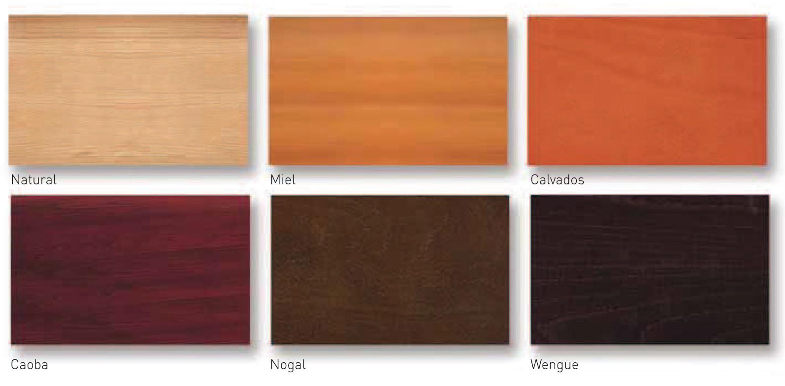 Muebles en madera cat logo de colores para acabados en madera for Colores de muebles
