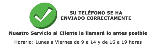 Telefono de contacto Enviado a Servicio al Cliente