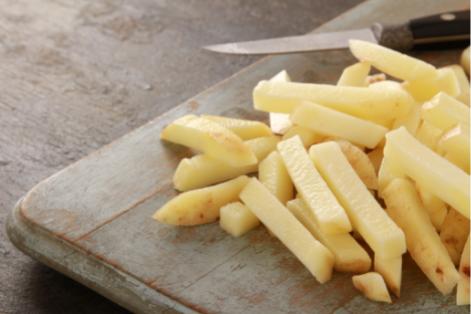 Como cortar patatas fritas