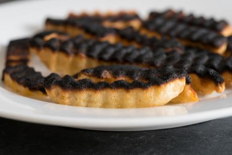 Patatas fritas quemadas