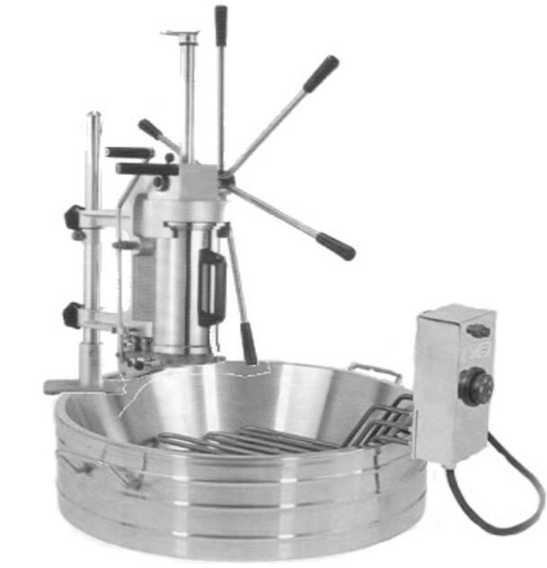 Maquina churrera para hacer y freir churros en el mismo deposito.