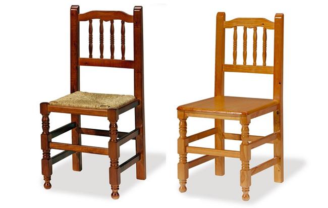 Silla castellana la silla de madera m s vendida for Sillas tipo bar en madera