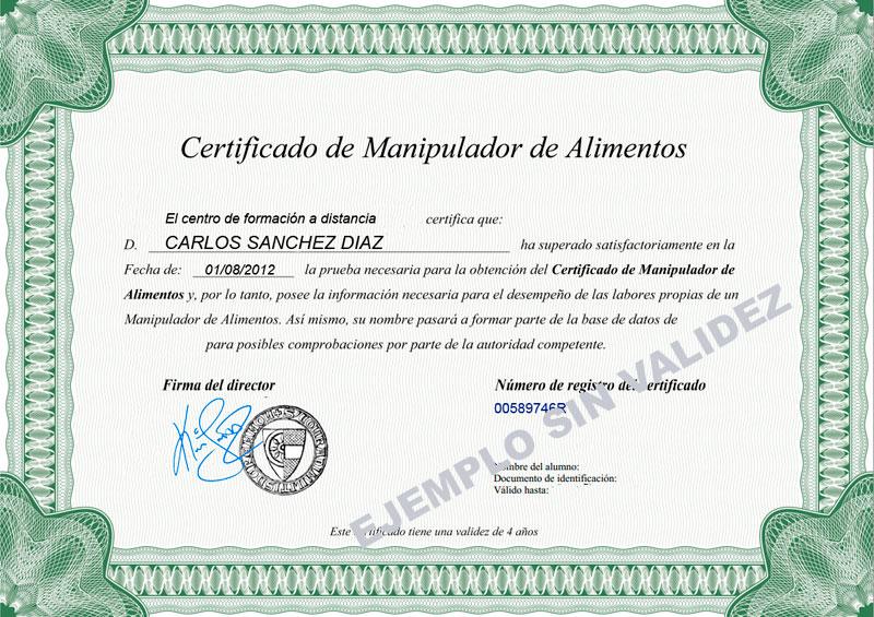 Carnet manipulador de alimentos blog hosteleria secretos de hosteler a - Certificado de manipulador de alimentos gratis online ...
