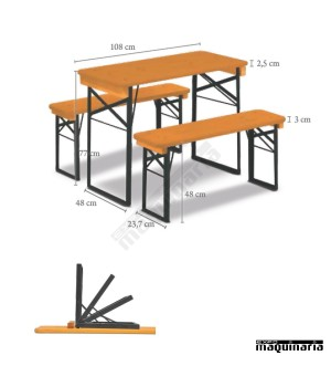 Mesas altas de bar plegables