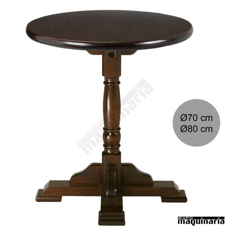 Mesas de madera blog bar secretos de hosteler a - Que es mesa redonda ...