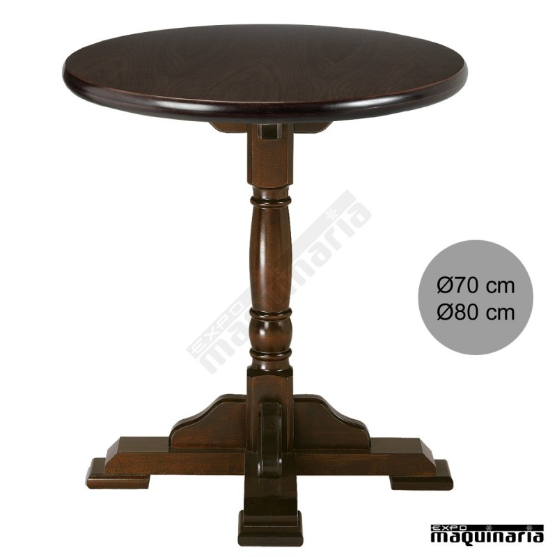 Mesas de madera blog bar secretos de hosteler a - Patas para mesas redondas ...