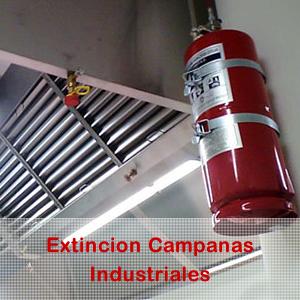 Extincion para campanas industriales